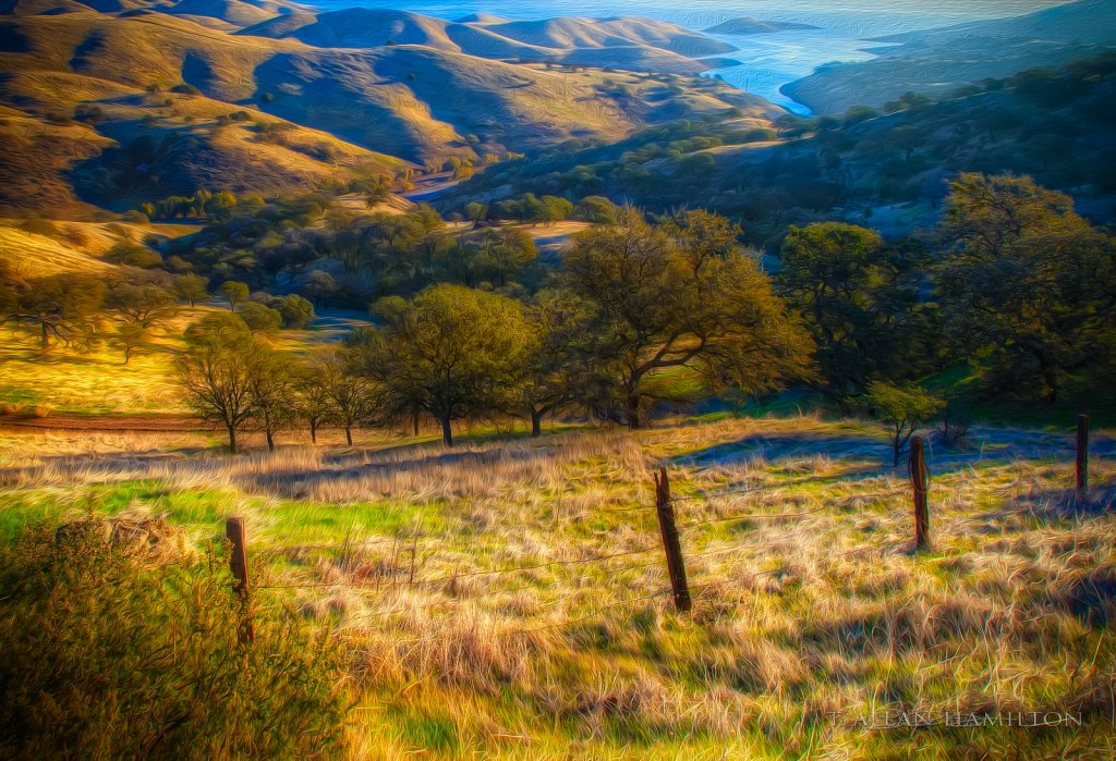 San Luis reservoir from the hills
