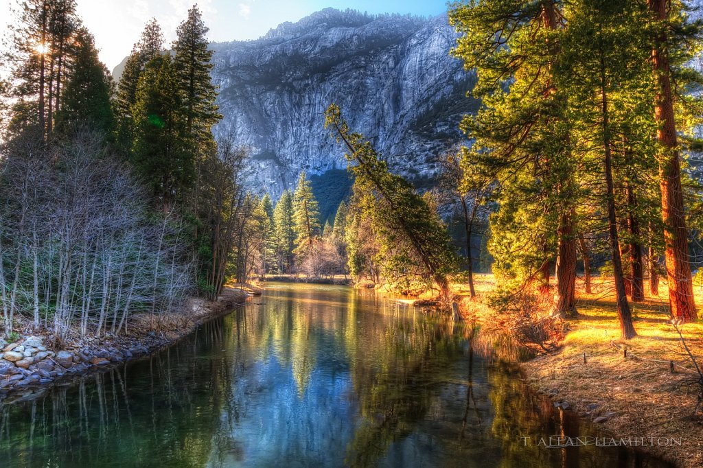 Merced River Yosemite near Yosemite Village
