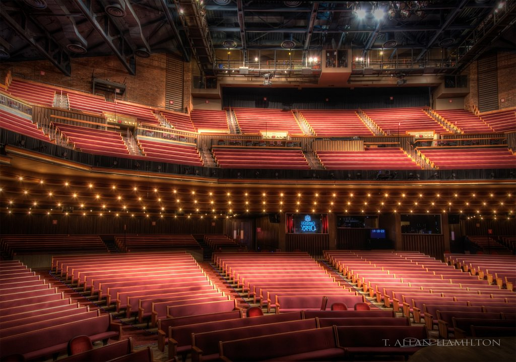 From the stage of the Grand Ole Opry