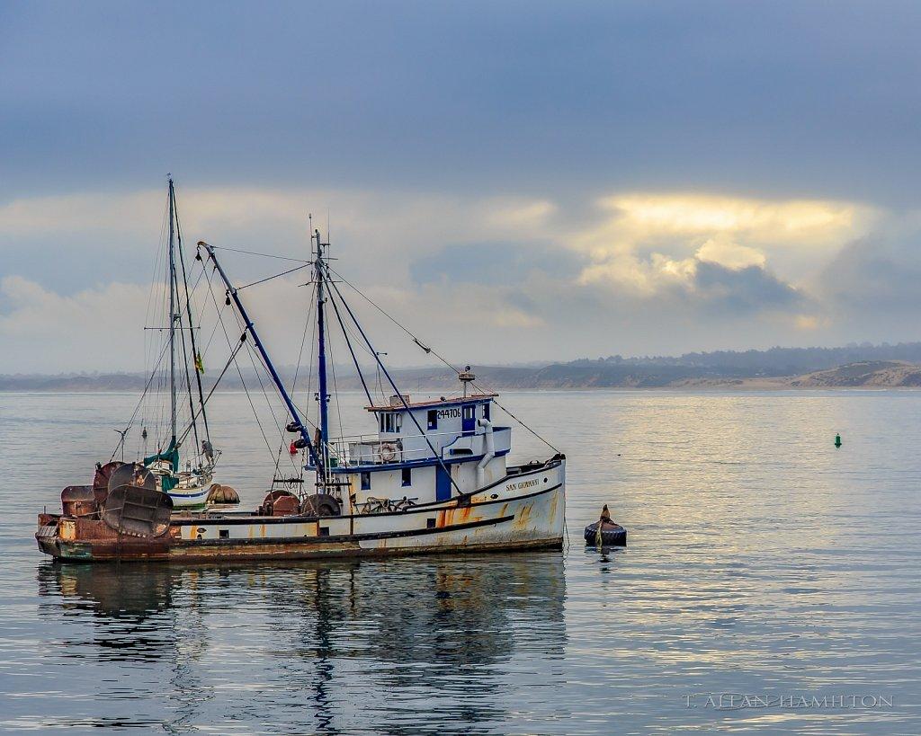 Fishing Boat San Giovanni in Monterey Harbor