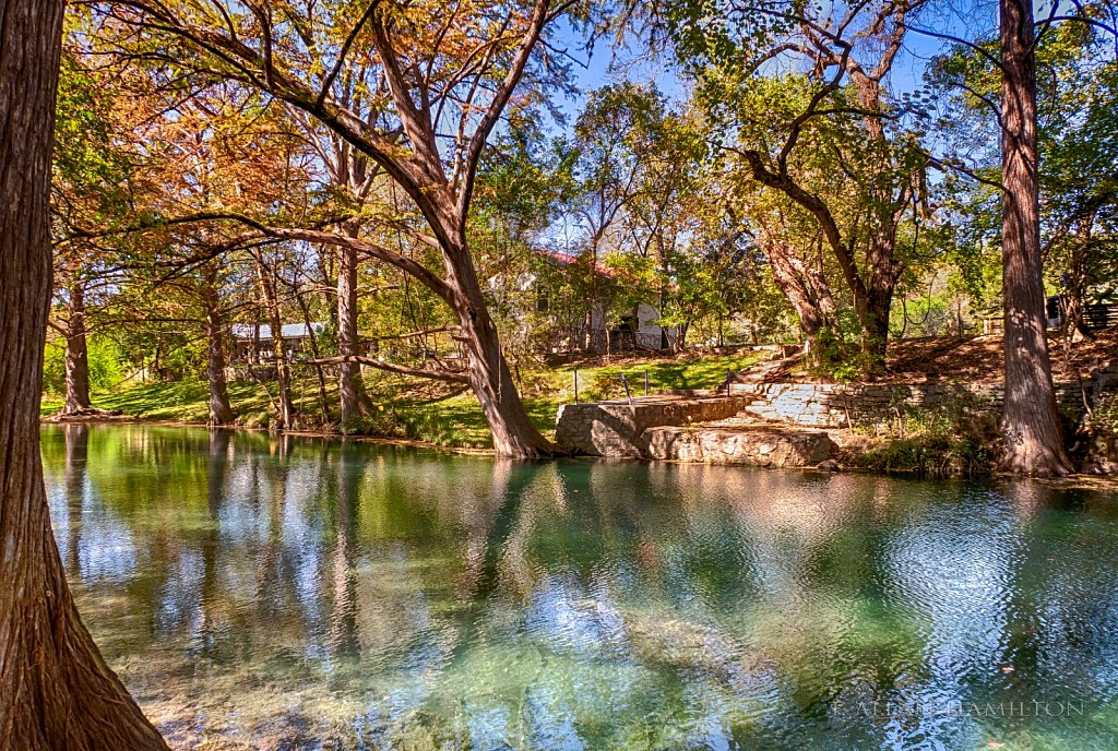 River through Wimberley, TX